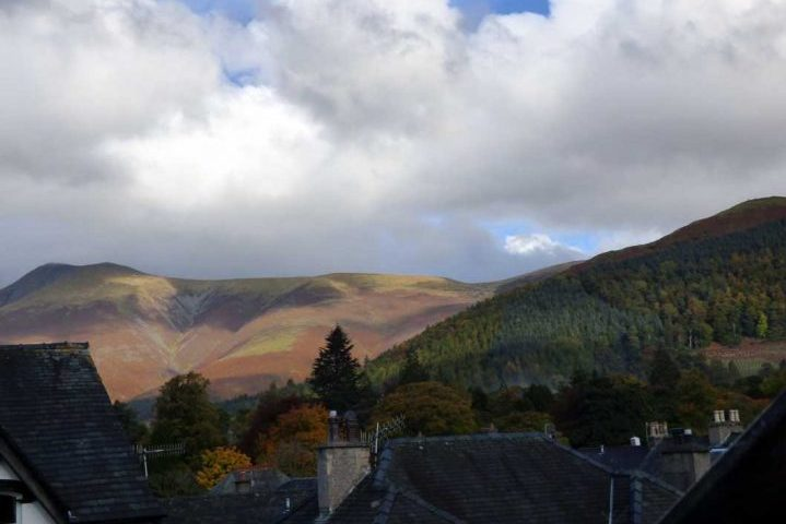 View from cragwood guest house showing skiddaw and latrigg