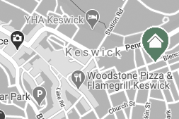 small map showing keswick guest house