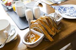 Breakfast toast at cragwood B&B Keswick